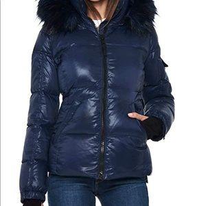 S13 NYC Kylie Faux Fur Trim Puffer Jacket